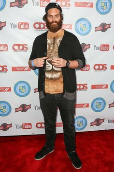 """YouTube personality Harley """"Sauce Boss"""" Morenstein attends the 'Video Game High School' season 2 premiere party, rocking """"Lion Warrior"""""""