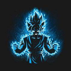 Awesome 'Saiyan+Blue' design on TeePublic!