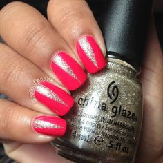 I like the peaks that look like little claws. Too cute. The blonde in the pic. #nails #nailart #glamour #glamournails #popular #beauty #fashion