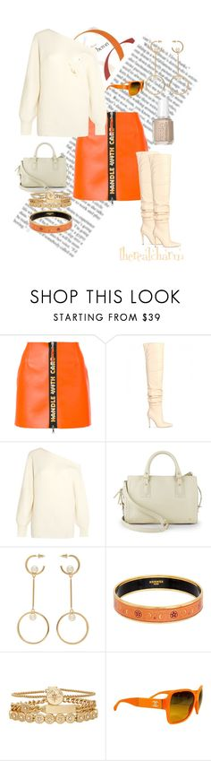 """Untitled #19"" by therealcharm ❤ liked on Polyvore featuring Heron Preston, Theory, Halston Heritage, Chloé, Hermès, Treasure & Bond, Chanel and Essie"