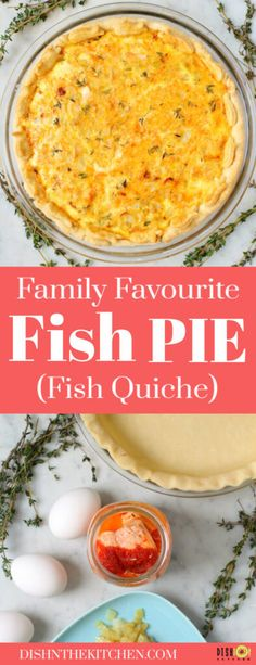 A Simple Fish Pie made with home canned (or store bought) fish, eggs, and herbs. Easy to prepare and absolutely delicious for lunch or dinner. #fishpie #quiche #fishquiche #lunch #brunch Best Lunch Recipes, Egg Recipes, Fish Recipes, Seafood Recipes, Easy Dinner Recipes, Favorite Recipes, Delicious Recipes, Quiche Dish, Easy Meals For Two