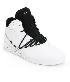 08fcb41d77da Clean up your skate style with a unique hooped lacing system on a white  leather design