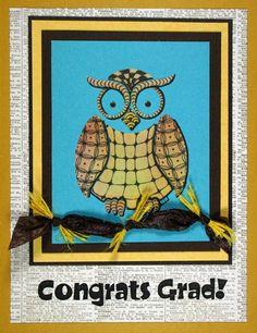 https://flic.kr/p/obrQqF | Owl buddy ZIA Congrats Grad card