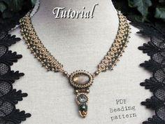 Tutorial for beadwoven necklace 'Lady Sybil' by TrinketsBeadwork