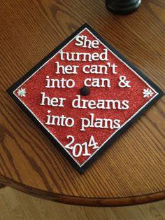 Brittani's college graduation cap