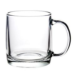 Nordic 13-ounce Clear Glass Mugs (Set of 4)