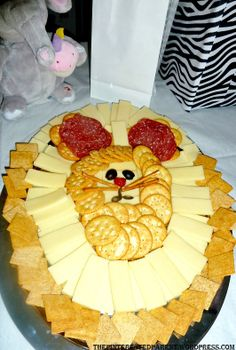 Cute cheese and cracker party platter