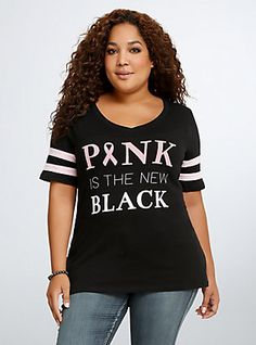 Breast Cancer Awareness Collection The New Black Football Tee,
