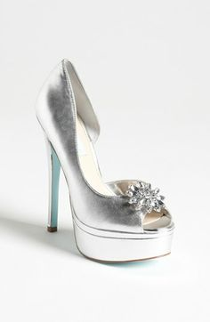 Blue by Betsey Johnson 'Honor' Pump available at #Nordstrom.  Love the light blue sole!
