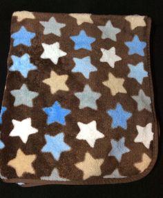 Circo Brown Star Blanket Lovey Baby Blue Tan #Circo