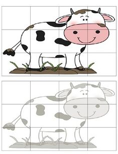 Farm Cut & Paste Puzzles by The Teaching Zoo Creative Activities For Kids, Preschool Learning Activities, Interactive Activities, Preschool Worksheets, Kindergarten Special Education, Kids Education, Free Printable Puzzles, Farm Animal Crafts, First Grade Phonics