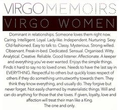 Virgo- this is completely accurate!