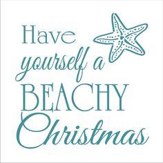 Have Yourself a Beachy Christmas STENCIL por SuperiorStencils