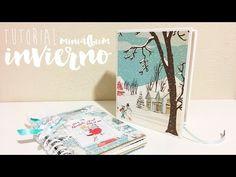 TUTORIAL SCRAPBOOKING cajita para álbum de invierno - YouTube