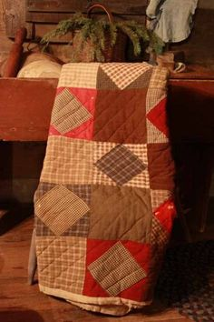 Quilts made from mens suiting and scrap material. So heavy.