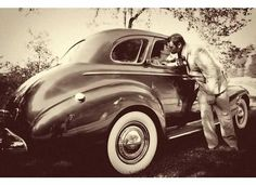 Old cars and weddings.