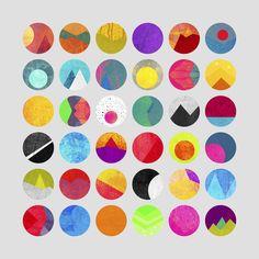 Dots – I art print by Elisabeth Fredriksson