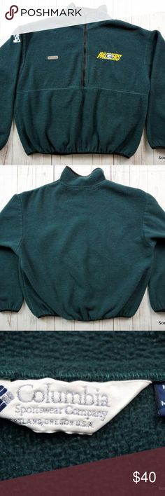 """Columbia Green Bay Packers Fleece Pullover Jacket Vintage 90s Columbia Green Bay Packers Fleece Jacket, Men's XL, Extra Large, 1/2 Zip, Green, 90s Fashion, NFL Football, Wisconsin  Brand:    Columbia Size:       Men's Extra Large, XL Color:     Green  Material:100% Polyester  Made in the USA!  Detailed Measurements  Underarm: 26"""" inches Sleeves:    23"""" inches Length:      26"""" inches Columbia Jackets & Coats"""