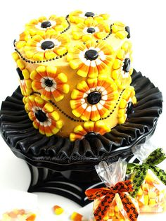 Candy Corn Cake by fabcakelady, via Flickr