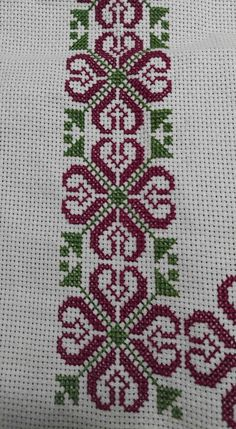 Discover thousands of images about Palestinian Cross Stitch Borders, Cross Stitch Alphabet, Cross Stitch Flowers, Cross Stitch Designs, Cross Stitching, Cross Stitch Embroidery, Hand Embroidery, Embroidery Needles, Beaded Embroidery