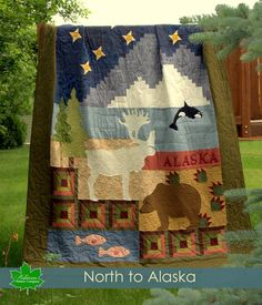 alaska quilts patterns | Alaska Quilt Pattern - Alaska Sampler - printed pattern - rugged ...