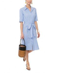 Sammy Striped Shirt Dress with Self Tie Waist | Bagutta | Halsbrook