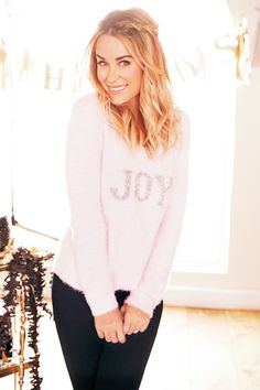 Lauren Conrad's Holiday Style {cute fuzzy sweater}