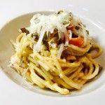 Spaghetti carciofi pancetta e scamorza