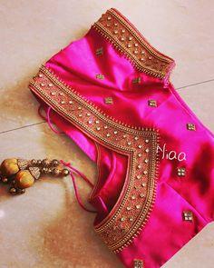 Blouse Back Neck Designs, Cutwork Blouse Designs, Hand Work Blouse Design, Simple Blouse Designs, Stylish Blouse Design, Aari Work Blouse, Chennai, Traditional Blouse Designs, Blouse Designs Catalogue