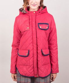 Red & Blue Tippi Puffer Coat by Riverside