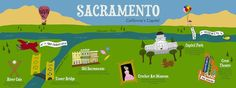 Sacramento map by Tina Jett