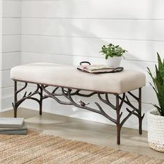 Sparrow Bench | Grandin Road Copper Highlights, Bench Furniture, Furniture Reupholstery, Outdoor Furniture, Grandin Road, Bench With Storage, Ottoman Bench, Inspired Homes, Club Chairs