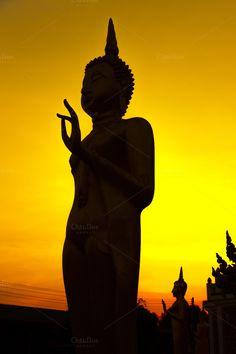 Silhouette image of buddha by Pushish Images on @creativemarket