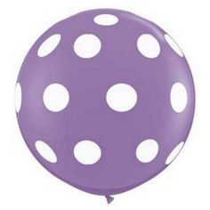 36 Round Balloon Light PURPLE with White by TheSimplyChicShop, $7.95