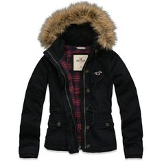 Hollister Co Emma Wood Parka ($120) ❤ liked on Polyvore