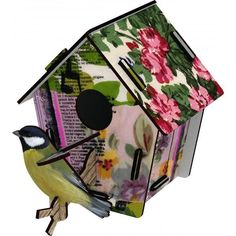 Miho Unexpected's First Love Bird House is one of a range of gloriously quirky design objects that will add life to any room. Palomar, The Colour Of Spring, Decorative Bird Houses, Luxury Decor, Small Birds, American Crafts, Wall Sculptures, Flower Wall, Framed Wall Art