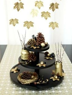 #black and #gold #fall #decor #design #decoration #thanksgiving