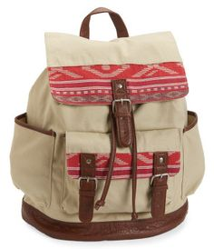 Tribal Block Cinch Backpack -