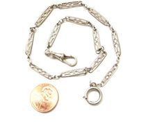 VinNTaGe French watch fob Sterling silver  links by 2shoppingdiva