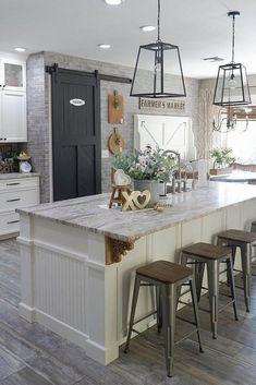 45+ Awesome Farmhouse Kitchen Makeover Design Ideas On A Budget #farmhousekitchenmakeover #farmhousekitchenideas #farmhousekitchen » Fcbihor.net