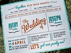 cute retro wedding invitations