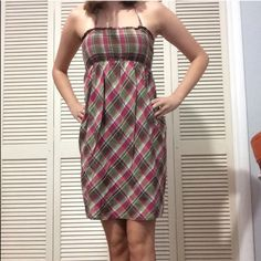 Plaid Summer Dress Used but in great condition! Perfect for summer and could also be worn in the fall with a cardigan or jacket.  NO TRADES. NO HOLDS. NO MERC@RI  Please make any offers through the offer button   Questions? Just ask! EVERYTHING MUST GO! Ask me about my bundle discounts!  Aeropostale Dresses
