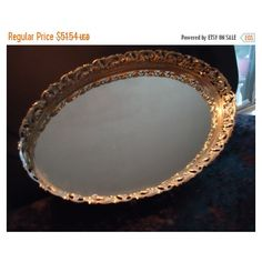 Now On Sale 1960's Vintage Gold Ornate Framed Vanity Mirror Mid... (£30) ❤ liked on Polyvore featuring home, home decor, gold home decor and gold home accessories