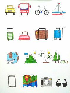 Travel icons..