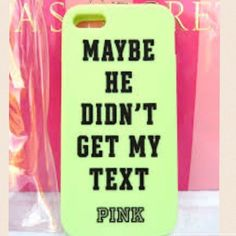 NEW IPHONE 5 5S SILICONE CASE NEW OUT OF PACKAGE IPHONE IPHONE 5S SILICONE CASE; MINT GREEN AND BLACK PINK Victoria's Secret Accessories Phone Cases