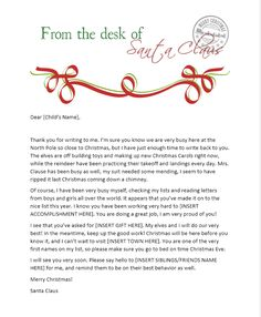Santa Letter Free Printable from www.theshadylane.com