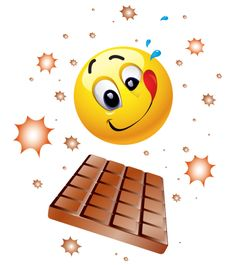 Everybody deserves a yummy chocolate treat now and again; this emoticon is perfect for sharing when you need a chocolate break.