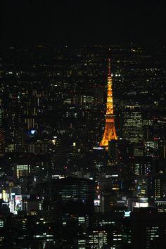 スカイツリーから見た東京タワー