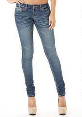 Royal Blue Flap-Pocket Skinny Jean