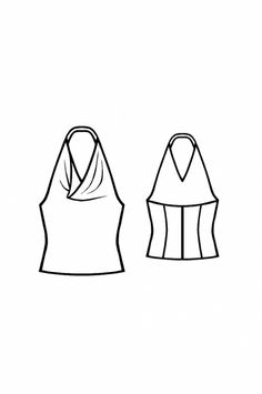 Cowl Neck Halter with Draping - Sewing Pattern #5143 - $2.49 (Enter your measurements for a custom-size pattern!)